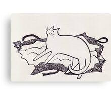Cats love presents 2 Canvas Print