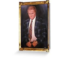 Biff Tannen Oil Painting Picture Greeting Card