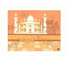 Agra Taj Mahal - Postcard From India Art Print