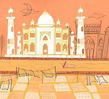 Agra Taj Mahal - Postcard From India by studiowotmot