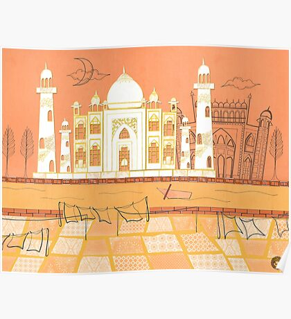 Agra Taj Mahal - Postcard From India Poster