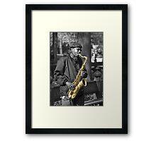 Sax In The Park Framed Print