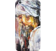 The girl with the white scarf iPhone Case/Skin