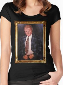 Biff Tannen Oil Painting Picture Women's Fitted Scoop T-Shirt