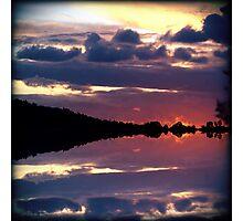 Rorschach Sunset Photographic Print