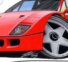 Ferrari F40 Red Sticker