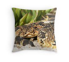 Puff Adder Throw Pillow