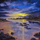 Low Tide Sunset by John Cocoris