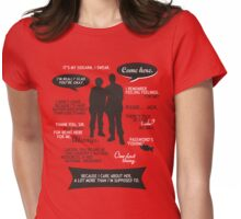 Stargate SG-1 - Sam & Jack quotes (B/W design) Womens Fitted T-Shirt