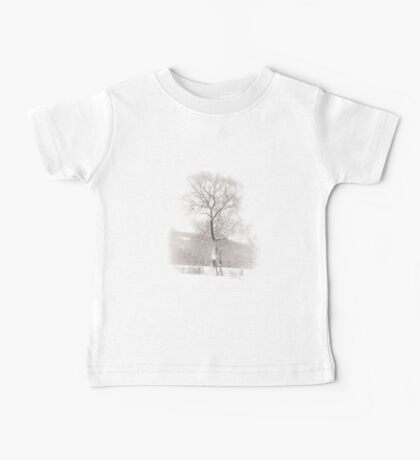 Solitary Tree in Snow Baby Tee