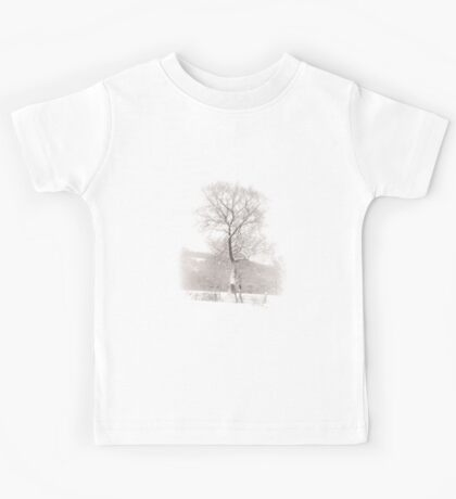 Solitary Tree in Snow Kids Tee