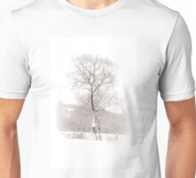 Solitary Tree in Snow Unisex T-Shirt