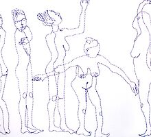 Sewing Figures #1 by Bonnie Aungle