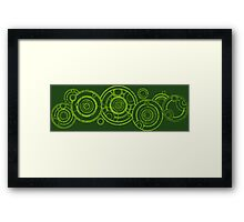 Doctor Who - The Doctor's name in Gallifreyan #3bis Framed Print