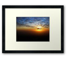 AH-64D at Sunrise Over Baghdad Framed Print