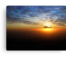AH-64D at Sunrise Over Baghdad Canvas Print