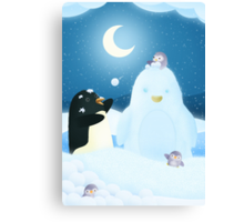 Snow Penguin Canvas Print