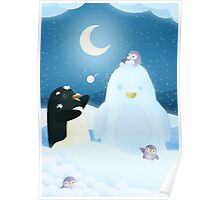 Snow Penguin Poster