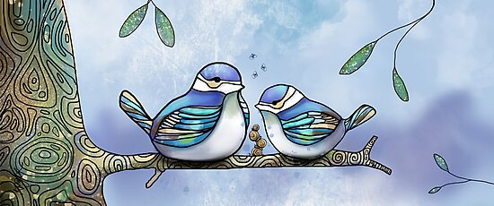 Birds of Blue by © Karin Taylor