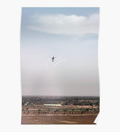 AH-64D Pops Flares Poster
