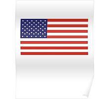 American Flag, Stars & Stripes, Pure & Simple, America, USA Poster