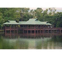 Ninoy Aquino Park and Wildlife Nature Center Lagoon hut Photographic Print