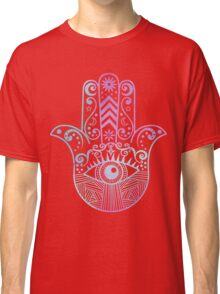 Hamsa Hand Purple and Blue Watercolor Classic T-Shirt