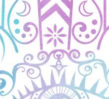 Hamsa Hand Purple and Blue Watercolor Sticker