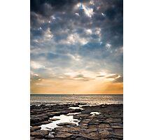 Beautiful Sunset at Nash Point Photographic Print