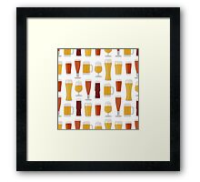 Beer Glasses Framed Print