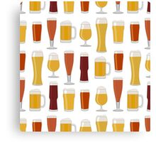 Beer Glasses Canvas Print