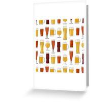 Beer Glasses Greeting Card