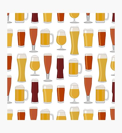 Beer Glasses Photographic Print