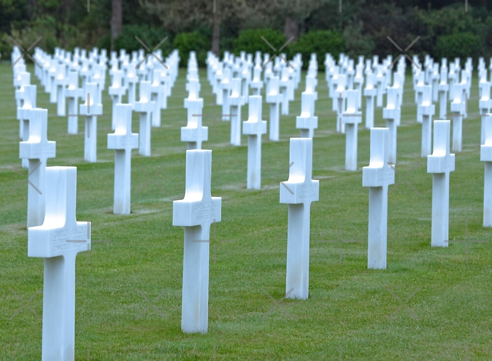 American WWII Cemetery - Colleville s/Mer Normandy France by Buckwhite