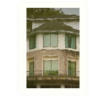 Ninoy Aquino Park and Wildlife Nature Center Lagoon Cottage reflection Art Print