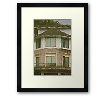 Ninoy Aquino Park and Wildlife Nature Center Lagoon Cottage reflection Framed Print