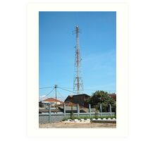 communication tower Art Print