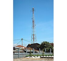 communication tower Photographic Print