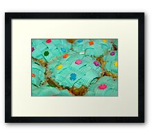cupcake with green coating and sugar candies Framed Print