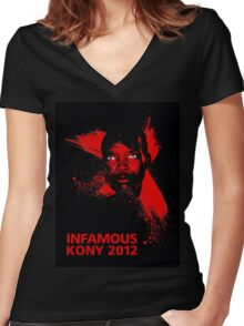 INFAMOUS Women's Fitted V-Neck T-Shirt
