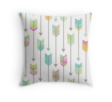 Watercolor Arrows Pattern Throw Pillow