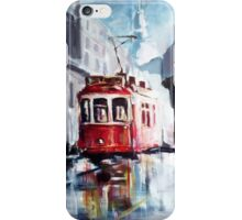 Old tram on the street iPhone Case/Skin