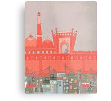 Purani Dilli, Old Delhi - A Postcard from India Metal Print