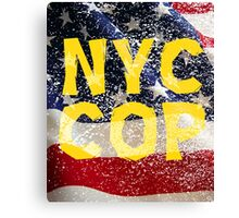New York NY City Cop T Shirts, Stickers and Other Gifts Canvas Print