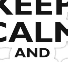 KEEP CALM, BUY A BEER, BE COOL, ON ICE BLUE Sticker