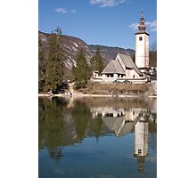 beautiful bohinj and its church Photographic Print