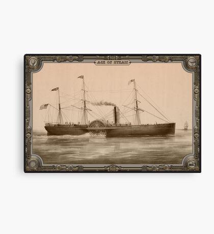 Steamship on Sea. Age of Steam #011 Canvas Print