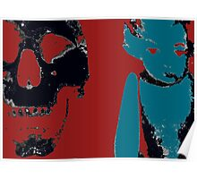 Skull and Dolly go Warhol Poster