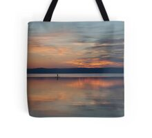 Surfer Rowing To Shore Tote Bag