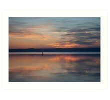 Surfer Rowing To Shore Art Print